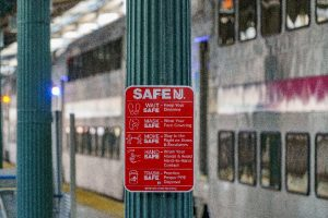 Safe NJ signage by train