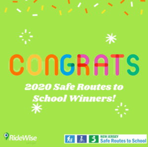 Congratulations message to the 2020 Safe Routes to School winners.