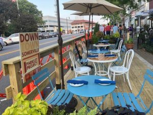A parklet in Somerville