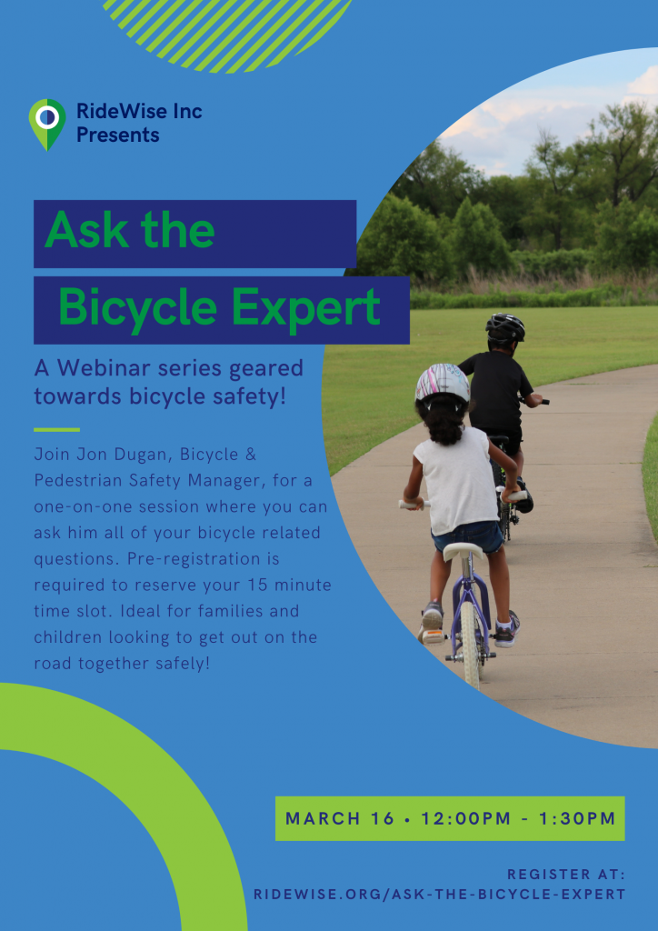 """A flyer for """"Ask the Bicycle Expert."""""""